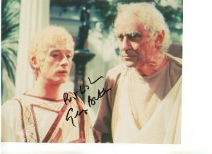 Signed 10 x 8 Photograph of George Baker,  I Caludius, James Bond, Doctor Who,  The Prisoner